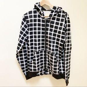 Globe black and white plaid pattern sweatshirt S